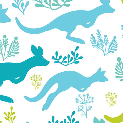 Blue Summer fabric by oksancia on Spoonflower - custom fabric