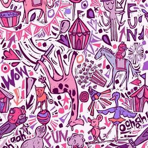 Animal-tastic Circus- Pink Colorway