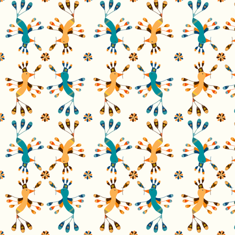 Tortolitas  fabric by gabriela_larios on Spoonflower - custom fabric