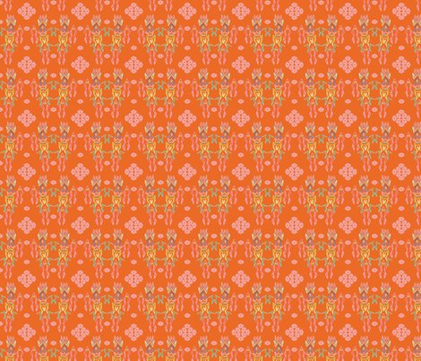 jewels (orange) fabric by lauralouise on Spoonflower - custom fabric
