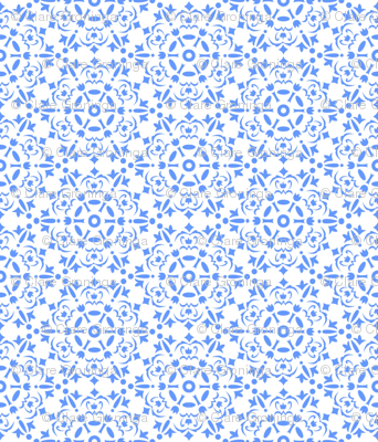 Snowflake medallion_blue