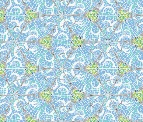 eiffel dance fabric by jorz on Spoonflower - custom fabric