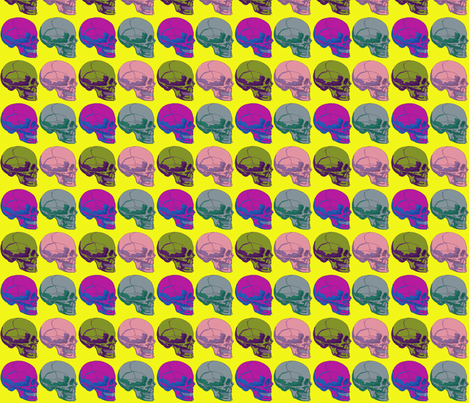 Pop go the Skulls fabric by glanoramay on Spoonflower - custom fabric