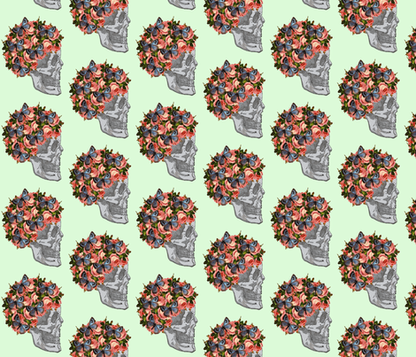 Skelegirl fabric by glanoramay on Spoonflower - custom fabric