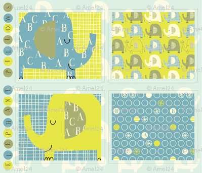 e is for elephant pillows