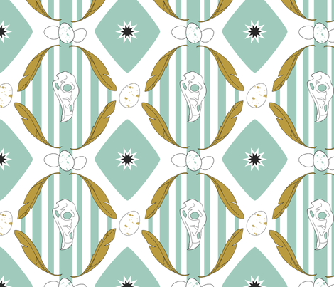 bird skulls fabric by kateg on Spoonflower - custom fabric