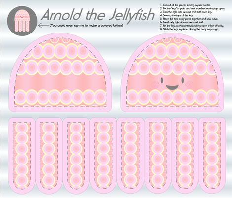 Arnold the Jellyfish - Plushie fabric by giddystuff on Spoonflower - custom fabric