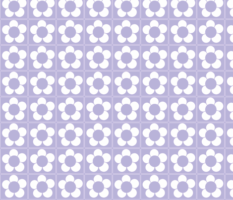 Lavender Daisy-ch fabric by simplysweet on Spoonflower - custom fabric