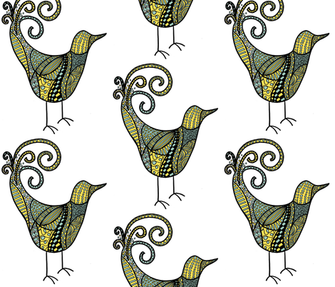 songbird fabric by jcguess on Spoonflower - custom fabric