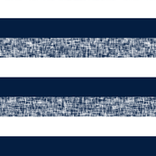 Navy + white + textured spring stripes by Su_G