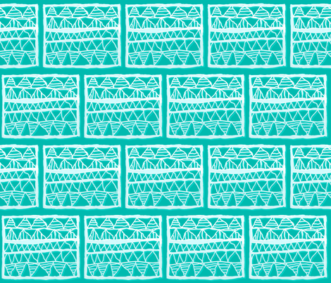 NP-Ice blue registers shadowed on teal fabric by su_g on Spoonflower - custom fabric
