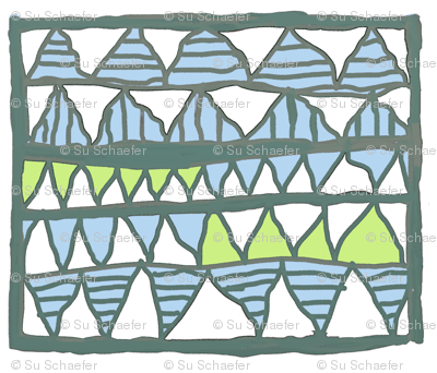 NP-Gelati teeth in blue and lime on white, large
