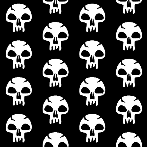 Skull fabric by johnnie159 on Spoonflower - custom fabric