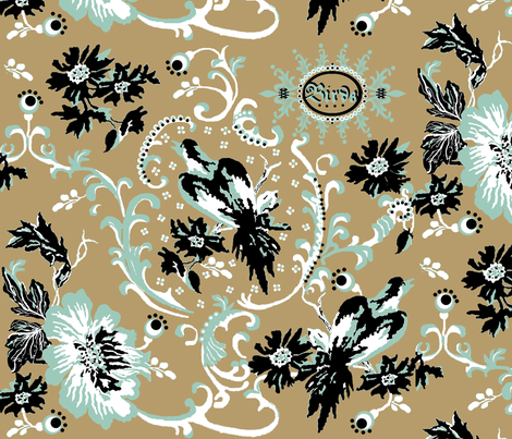 birds of paradise / khaki fabric by paragonstudios on Spoonflower - custom fabric