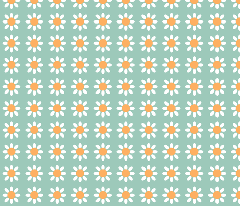 Large Flowers fabric by nezumiworld on Spoonflower - custom fabric