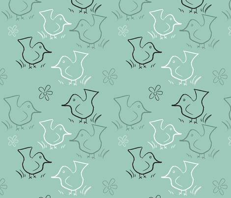 Odd Birds fabric by pantsmonkey on Spoonflower - custom fabric