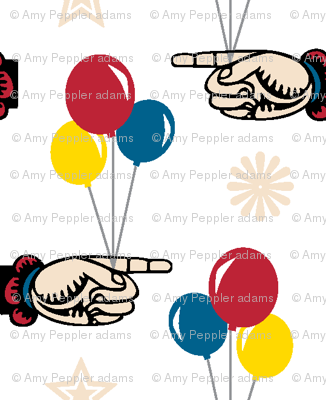 Circus Balloons || baby kids children nursery hands stars vintage whimsical carnival fair