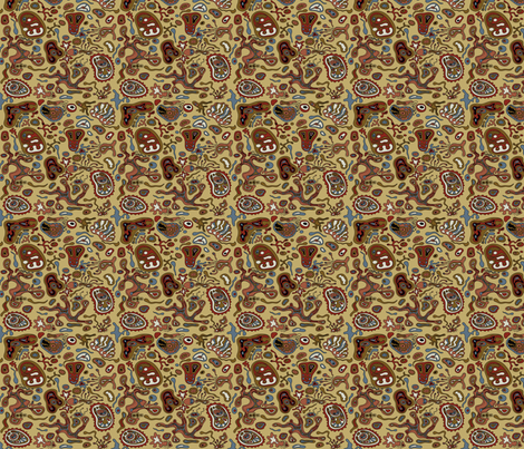 abstract pattern, earth colors fabric by yaskii on Spoonflower - custom fabric