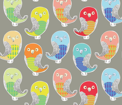 Cut out birds fabric by sary on Spoonflower - custom fabric