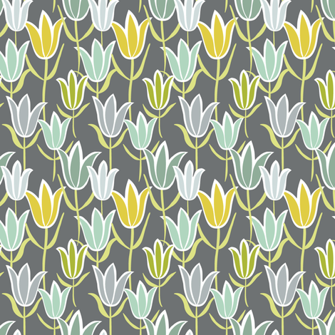 Tulips fabric by alisontauber on Spoonflower - custom fabric