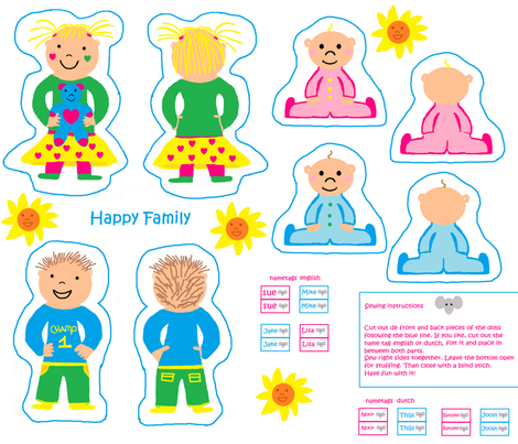 happy family fabric by tgsn on Spoonflower - custom fabric