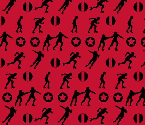 Derby Starz Red fabric by mokacrafts on Spoonflower - custom fabric