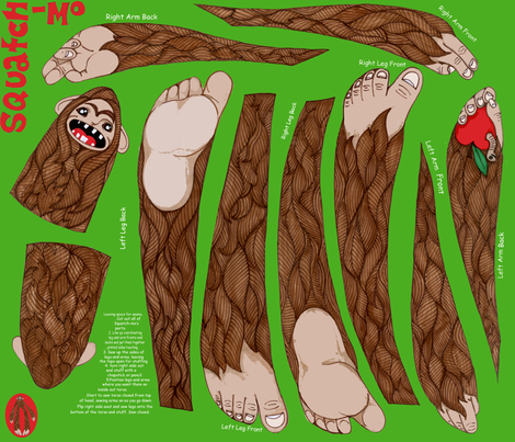 Squatch-Mo! fabric by ceanirminger on Spoonflower - custom fabric