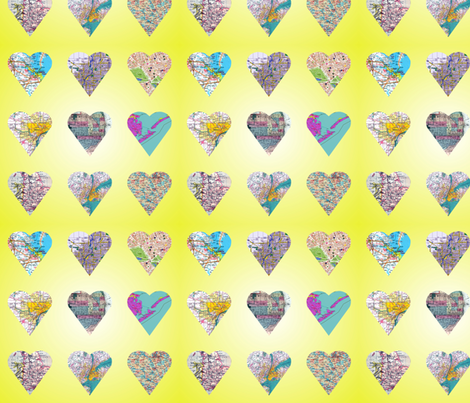 Map of my Heart fabric by fentonslee on Spoonflower - custom fabric