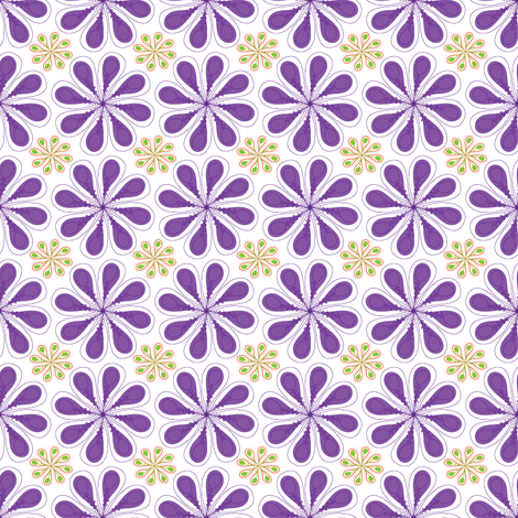 Halloween Flower on White fabric by mainsail_studio on Spoonflower - custom fabric
