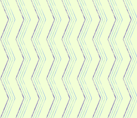 Painted Quirky Stripe (Cool) fabric by leighr on Spoonflower - custom fabric