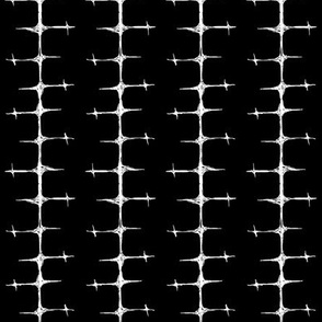 Scribble Goth - Cross Stripe 1 in black