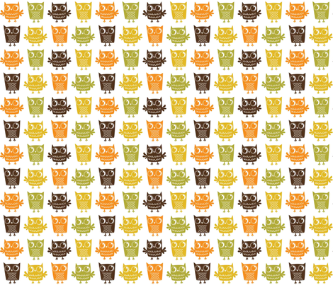 Woody Owls fabric by happygoluckycreations on Spoonflower - custom fabric