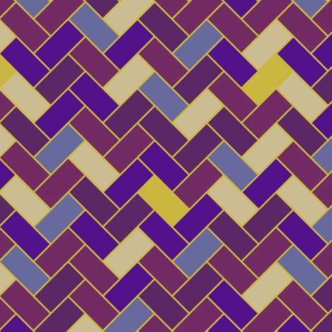 Purple Herringbone