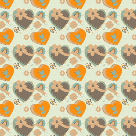 Funky Camo Girly Hearts fabric by eppiepeppercorn on Spoonflower - custom fabric