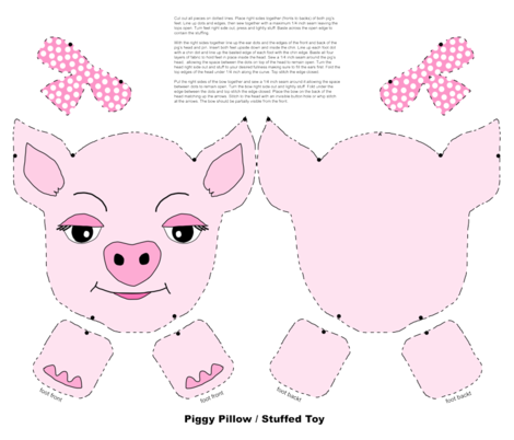 piggy_pillow_stuffed_toy fabric by tewalt on Spoonflower - custom fabric