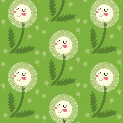 dandelions  fabric by heidikenney on Spoonflower - custom fabric