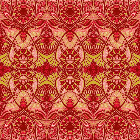 Victorian Gothic (negative, fire shades) fabric by edsel2084 on Spoonflower - custom fabric