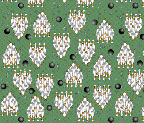 ©2011 Duckpins - zoom 2 see all fabric by glimmericks on Spoonflower - custom fabric