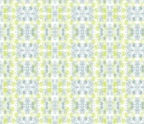 Reflection in Blues and Greens fabric by bluenini on Spoonflower - custom fabric
