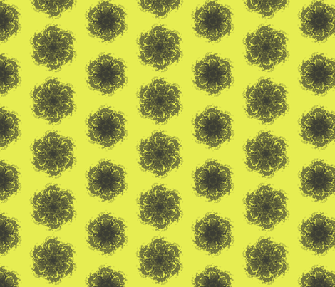 Wall Flower in Black and Yellow fabric by bluenini on Spoonflower - custom fabric