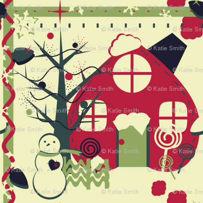 Red Holiday House