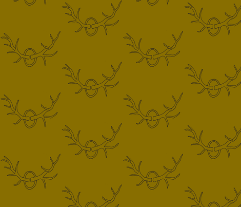 Antlers on Brown fabric by redhange on Spoonflower - custom fabric