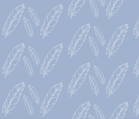 Feathered Sky fabric by redhange on Spoonflower - custom fabric