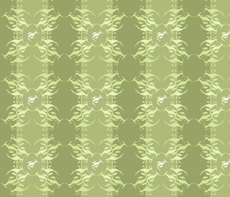 seadragon empire olive fabric by jeanne-design-illustration on Spoonflower - custom fabric