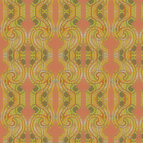 Olive Curl fabric by david_kent_collections on Spoonflower - custom fabric