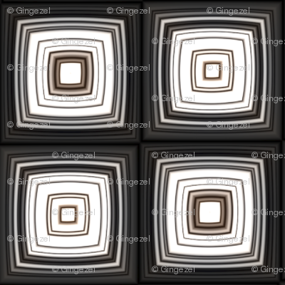 Black White and Brown Retro Squares © 2011 Gingezel