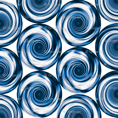 Navy Blue Stacked Spirals © 2011 Gingezel™ Inc.