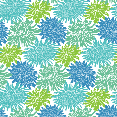 Crazy Chrysanthemum fabric by emilyclaire on Spoonflower - custom fabric