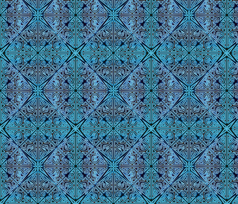 ©2011 Cutwork -  Peacock fabric by glimmericks on Spoonflower - custom fabric