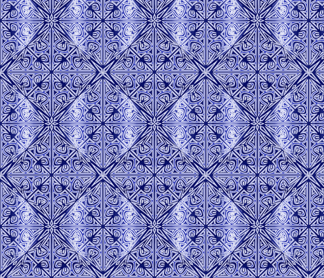 ©2011 Cutwork - Delft fabric by glimmericks on Spoonflower - custom fabric